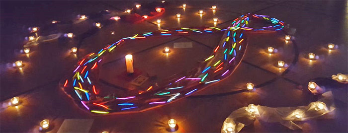 Fischsymbol aus Kerzen © privat